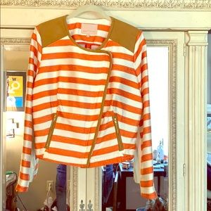 Orange and white Moro jkt Gibson and Latimer Sz L